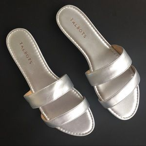 Talbots Sandals Size 9 , Silver